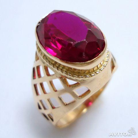 Мужской перстень с рубином, цена. Кольцо с рубином (синт