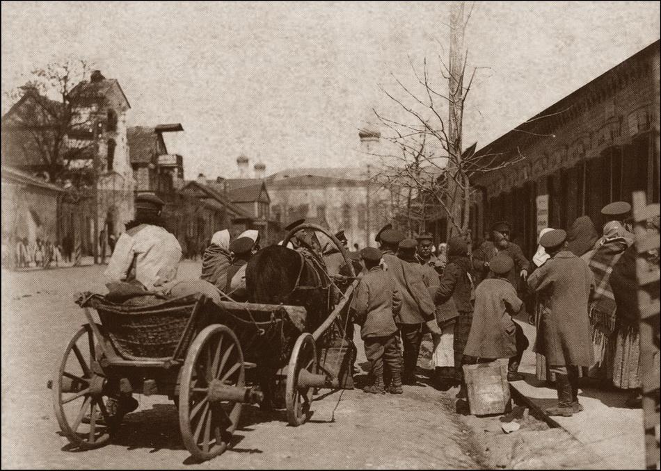 Слонім, гандляры і пакупнікі, 1914 год