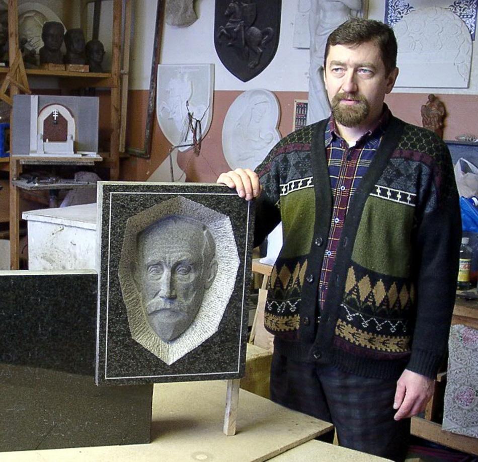З мемарыяльнай дошкай  Іосіфу Стаброўскаму