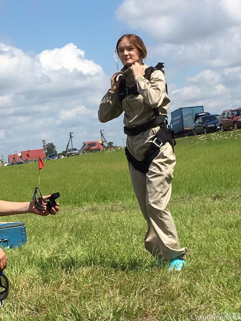 Анастасия Талерчик на лётном поле