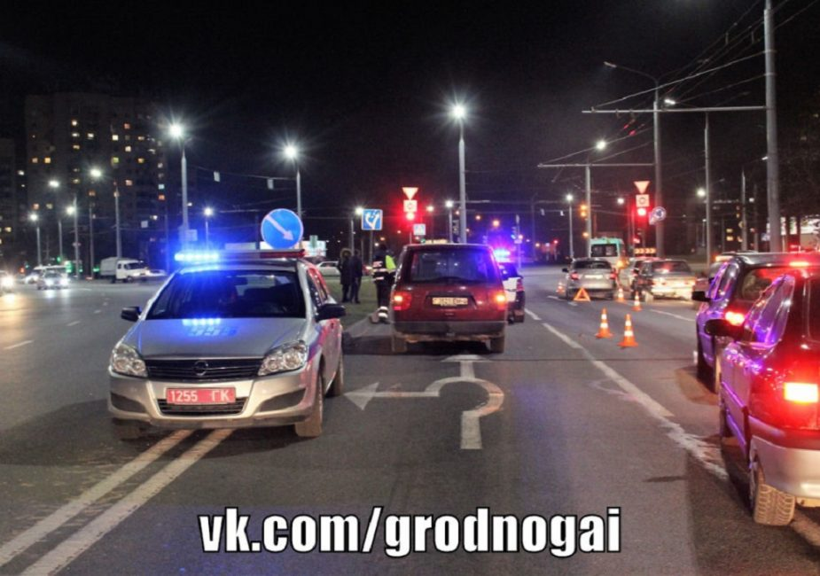 Место, где сбили женщину в Гродно