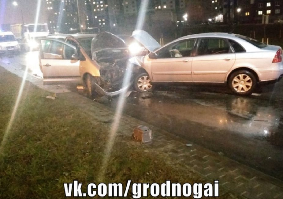 Авария в Гродно на улице Суворова