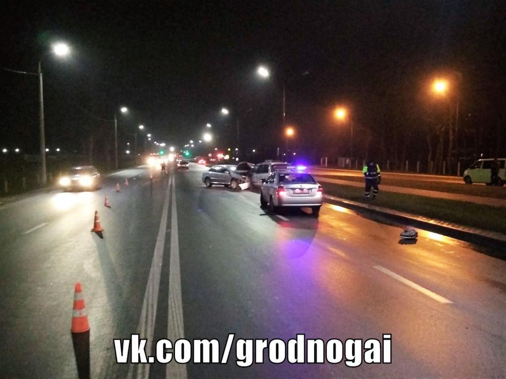 После аварии на улице Суворова в Гродно