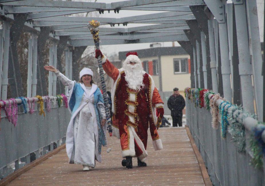 адкрыццё моста, у Слоніме