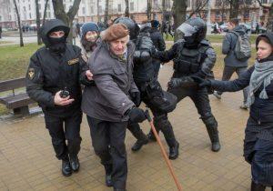 Ян Грыб, на акцыі ў Мінску