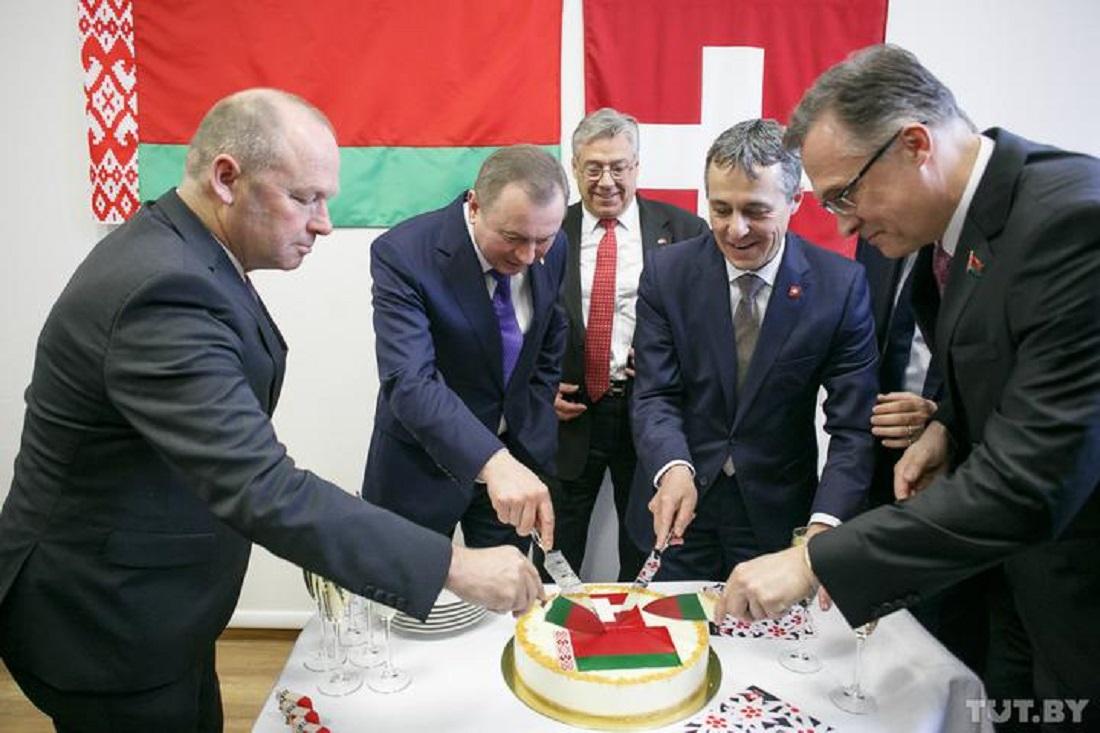 в Минске, открытие посольства Швейцарии
