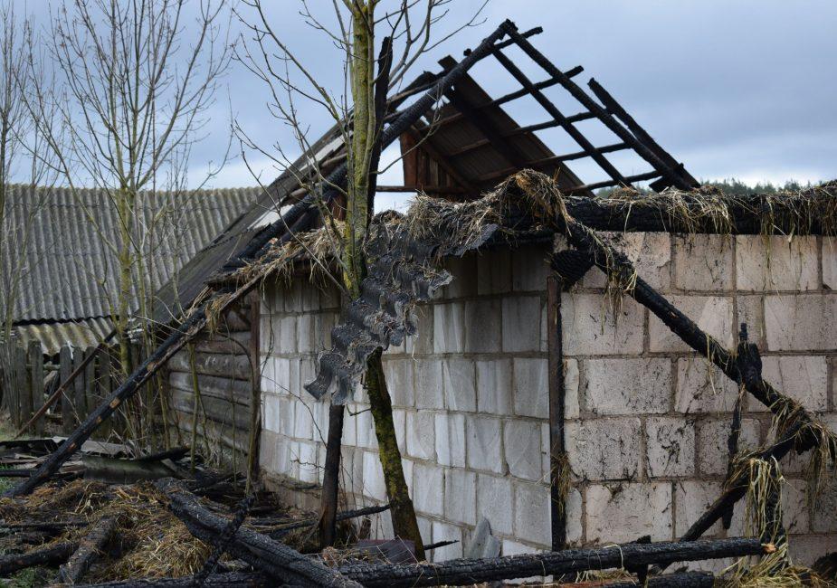 На месте пожара. Фото Слонимского РОЧС