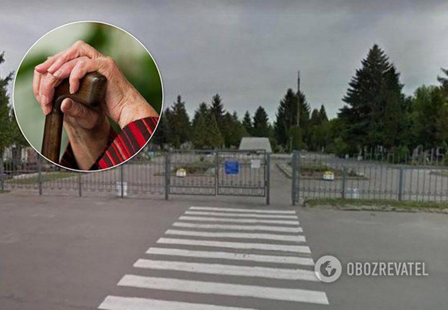 Пенсионерка застряла на заборе закрытого кладбища в Ривне