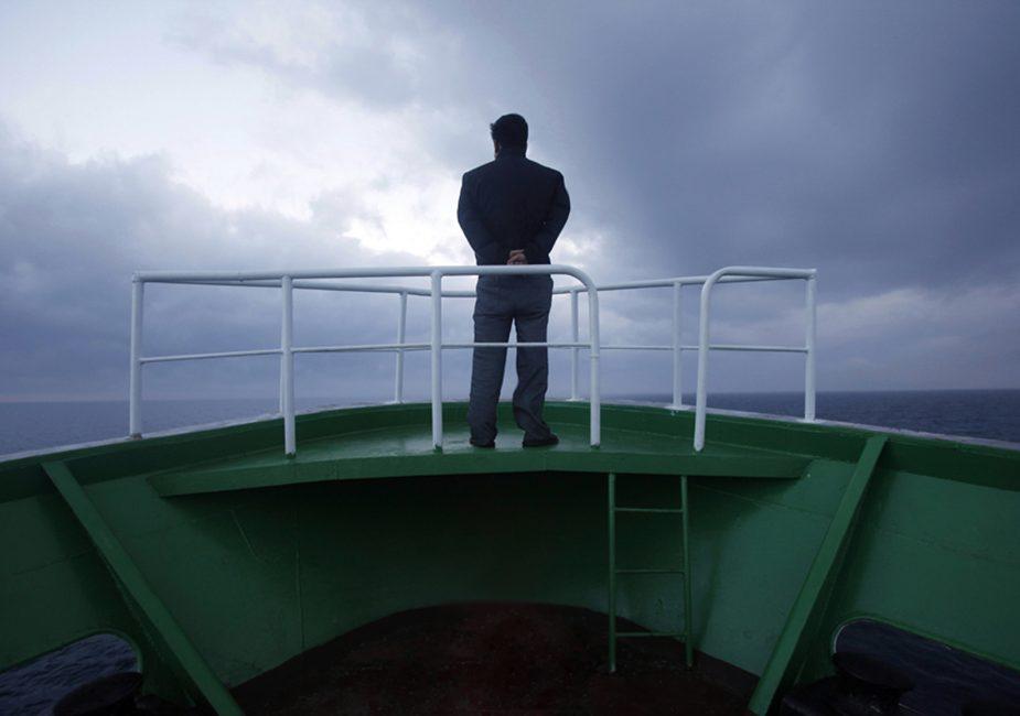 На палубе