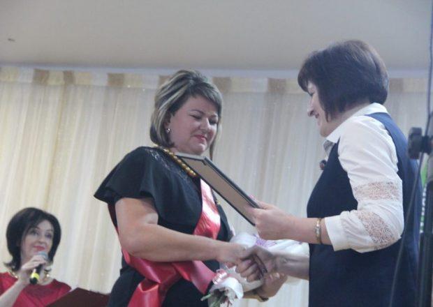 Татьяна Амшей во время районного этапа конкурса