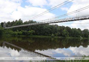 В Мостах находится самый длинный пешеходный мост в Беларуси