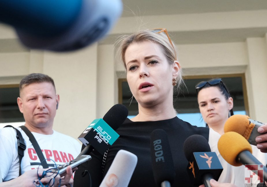 Допрос Вероники Цепкало был перенесён на пятницу. Её сестру отпустили
