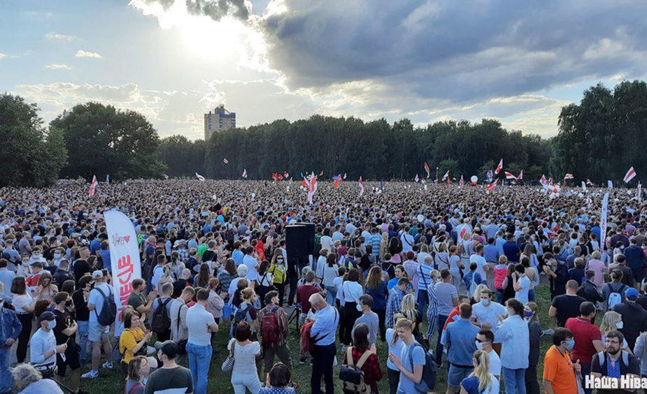 Тихановская собрала в Минске многотысячный митинг