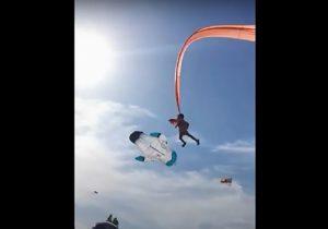 Видеофакт: трехлетнюю девочку унесло в небо вместе с воздушным змеем