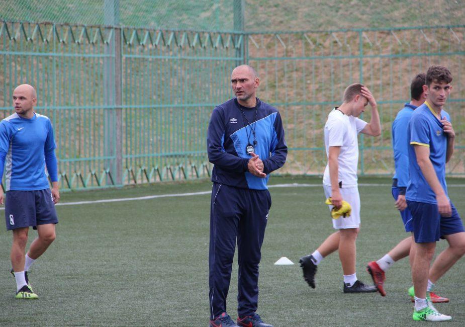Леонид Лагун на тренировке
