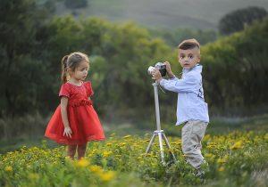 дети в красках лета