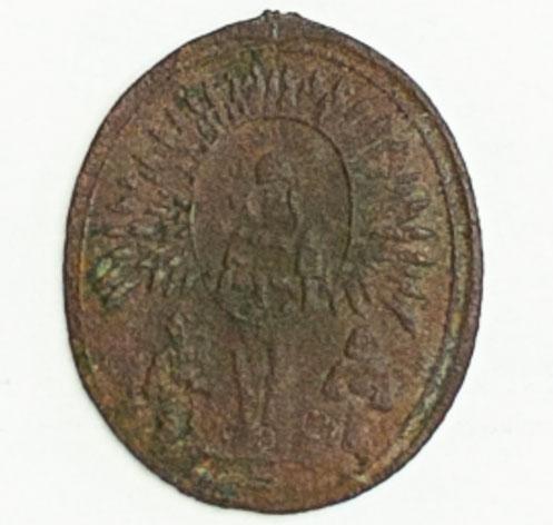 Медальон с изображением Жировичской иконы Божией Матери. XIX ст
