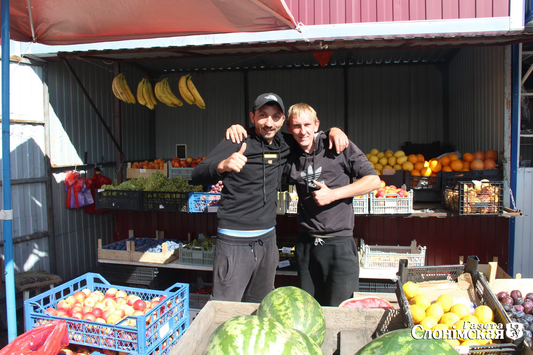 На центральном рынке в Слониме