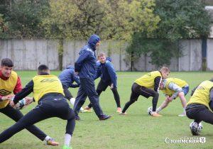 Слонимская команда на тренировке