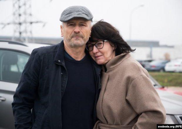 Алесь Краўцэвіч з жонкай Тацянай