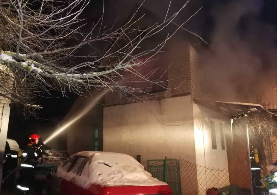 Пажар у Ваўкавыску