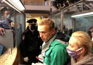навального задержали