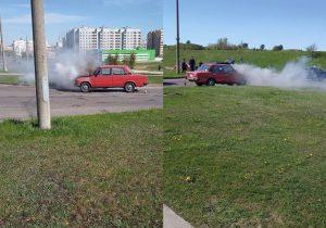 В Слониме загорелся автомобиль