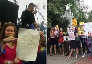 Певица бежала под прикрытием охраны: в Москве сорвали концерт Ани Лорак