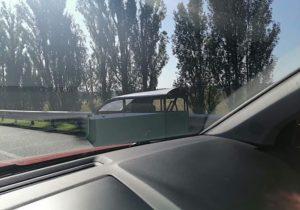 В Киеве заметили необычное транспортное средство