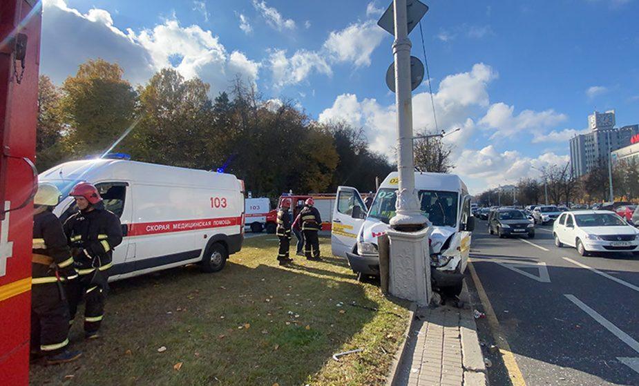 Минск авария маршрутка